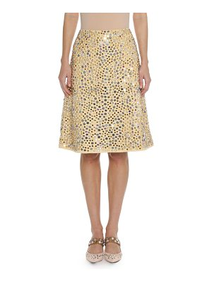 Bottega Veneta Embellished Faux-Suede Skirt
