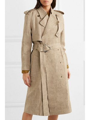 Bottega Veneta frayed belted linen trench coat