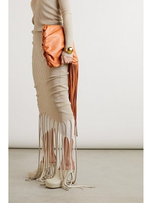 Bottega Veneta fringe gathered leather shoulder bag