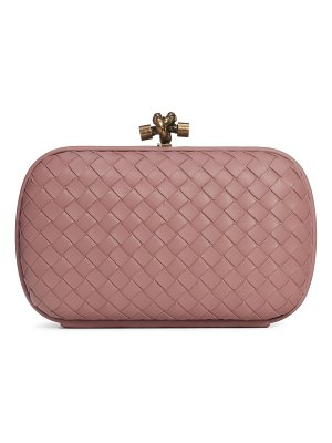 Bottega Veneta intrecciato leather knot clutch
