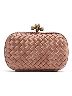 Bottega Veneta Knot satin and watersnake clutch