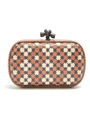 Bottega Veneta Knot Watersnake Trimmed Clutch