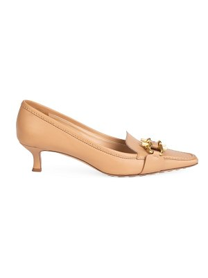 Bottega Veneta lady pump buckle leather loafers