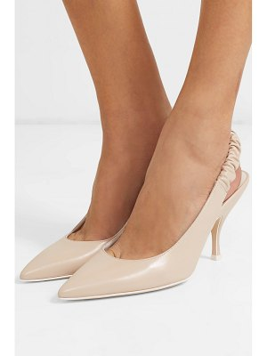 Bottega Veneta leather slingback pumps