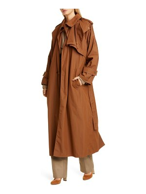 Bottega Veneta long cotton blend trench coat