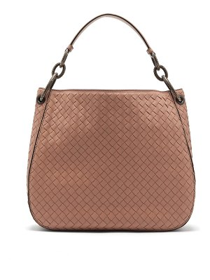 Bottega Veneta Loop Small Intrecciato Leather Shoulder Bag