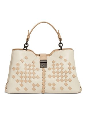 Bottega Veneta napoli small intrecciato leather bag