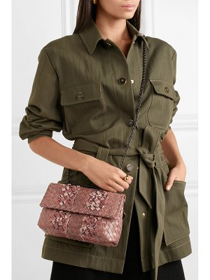 Bottega Veneta olimpia baby intrecciato ayers and karung shoulder bag