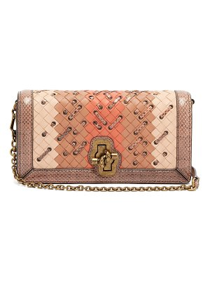 Bottega Veneta Olimpia Knot Intrecciato Leather Clutch