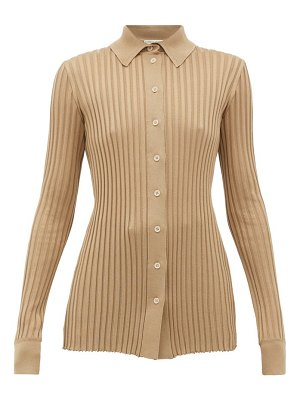 Bottega Veneta ribbed-knit silk cardigan