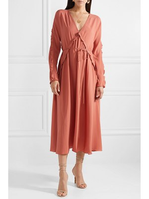 Bottega Veneta ruffled silk-georgette midi dress
