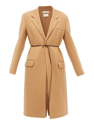 Bottega Veneta single-breasted belted cashmere coat
