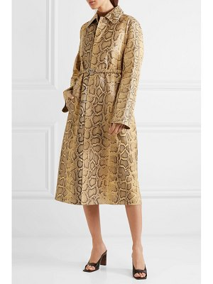 Bottega Veneta snake-effect leather trench coat