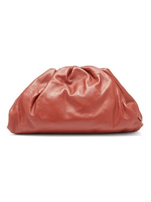 Bottega Veneta the pouch large leather clutch