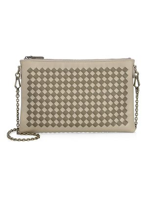Bottega Veneta woven leather chain clutch