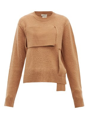 Bottega Veneta woven-panel wool sweater