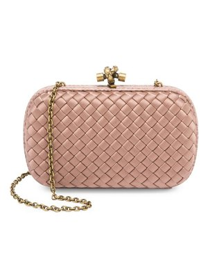 Bottega Veneta woven satin clutch-on-chain