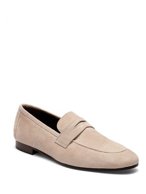 Bougeotte Flaneur Suede Flat Penny Loafers