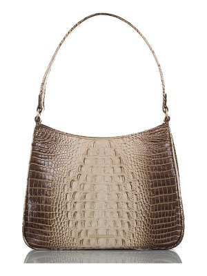 Brahmin meg melbourne croc embossed leather shoulder bag