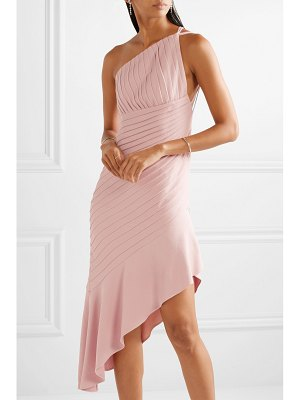 Brandon Maxwell asymmetric pleated stretch-crepe mini dress