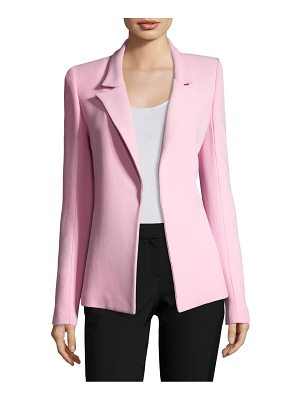 BRANDON MAXWELL Double Faced Crepe Tailored Jacket