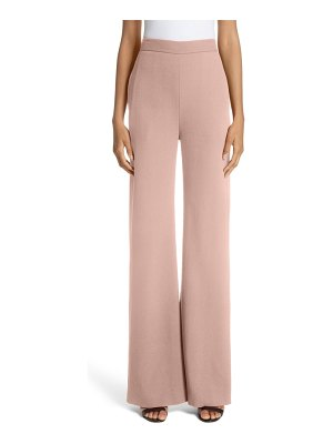 Brandon Maxwell pebble crepe wide leg pants