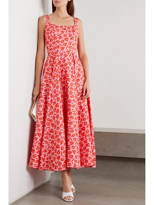 Brandon Maxwell printed silk midi dress