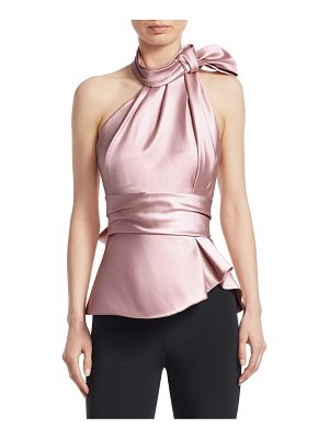 Brandon Maxwell satin scarf halter top