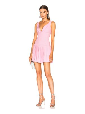 BRANDON MAXWELL Sweetheart Pintucked Tennis Dress