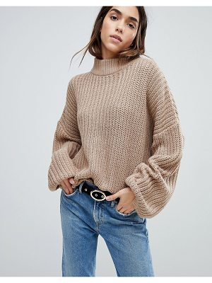 Brave Soul Bluebell Sweater with Oversize Sleeves