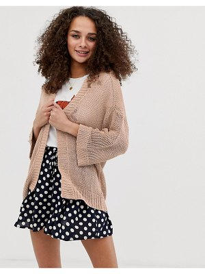 Brave Soul edge to edge cardigan in sand