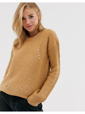Brave Soul fab sweater in spiced camel