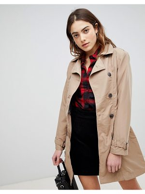 Brave Soul stella double breasted trench
