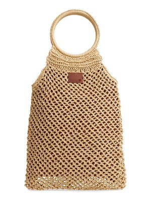 Brixton courtney woven top handle tote