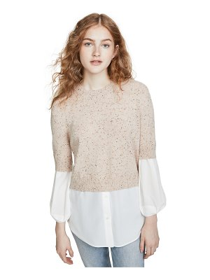 Brochu Walker ebella layered crew sweater