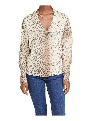 Brochu Walker millie printed v neck sweater