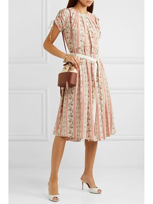 BROCK COLLECTION belted floral-print silk-georgette dress
