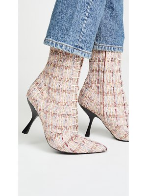 BROCK COLLECTION bouclé metallic lace up booties