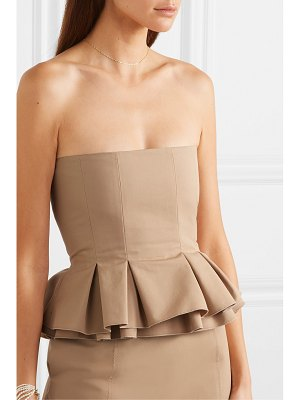 BROCK COLLECTION cotton-poplin peplum bustier top