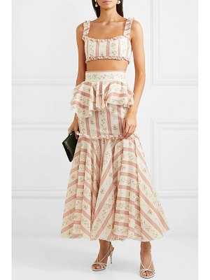 BROCK COLLECTION cutout ruffle-trimmed printed cotton maxi dress