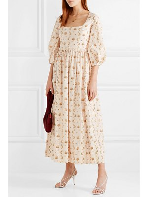 BROCK COLLECTION floral-print cotton-poplin maxi dress