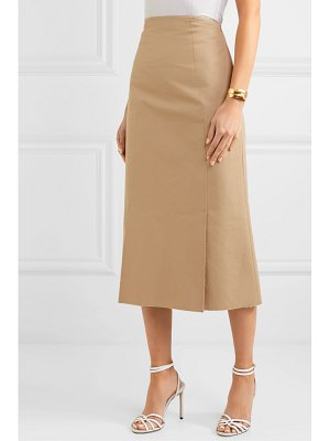 BROCK COLLECTION frayed cotton-poplin midi skirt