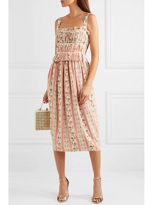 BROCK COLLECTION grosgrain-trimmed floral-print silk-georgette midi dress