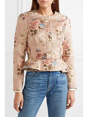 BROCK COLLECTION janet cotton and silk-blend jacquard peplum jacket