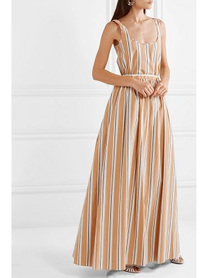 BROCK COLLECTION oriana striped stretch-cotton poplin maxi dress