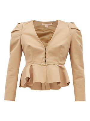 BROCK COLLECTION paneriello peplum cotton faille jacket