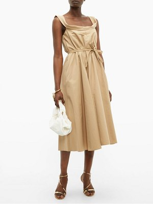 BROCK COLLECTION patti cowl neck cotton faille midi dress