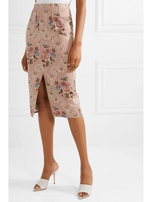BROCK COLLECTION sorrel cotton and silk-blend jacquard skirt