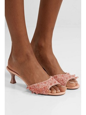 BROCK COLLECTION tabitha simmons beaded canvas mules