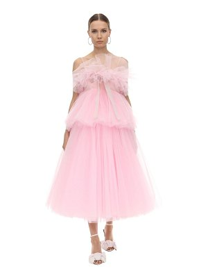 BROGNANO Layered tulle mini dress